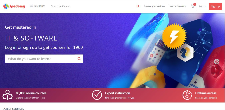 Spedemy Homepage
